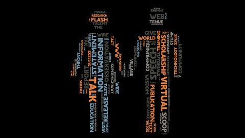 Information language communication marketing word cloud typography animation Animation