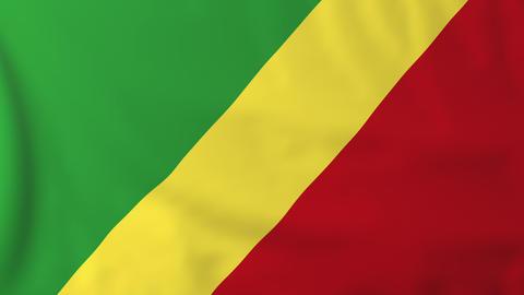 Flag of Republic of Congo Animation