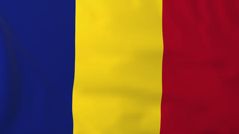 Flag Of Romania stock footage
