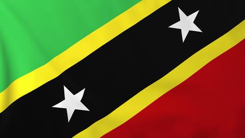 Flag of Saint Kitts Animation