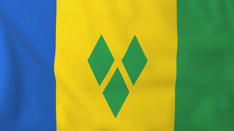 Flag of Saint Vincent Animation