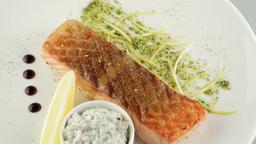 Grilled Salmon Restaurant Food 1
