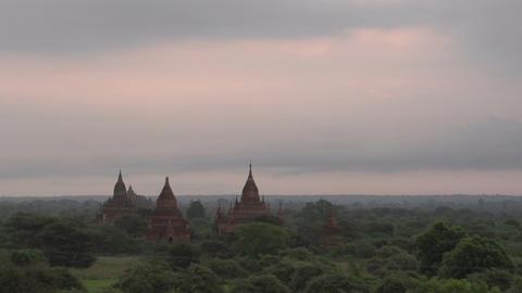 Sunrise at Bagan, myanmar Live Action
