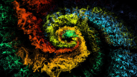 Abstract Rainbow Spiral Multicolored Swirl Animation