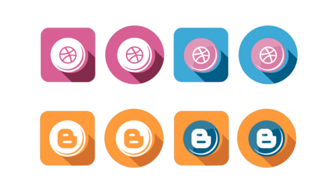 Social Flat Icons