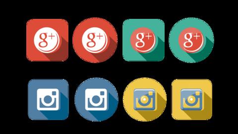 Social Flat Icons 2
