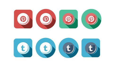 Flat Style Animated Social Icons Animation