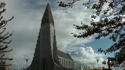 Iceland Reykjavik 049 landmark, place of interest, Church of Hallgrímur Footage