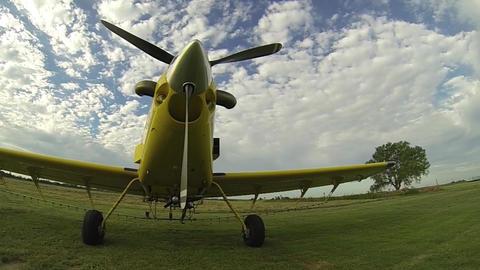 Parked Plane Go Pro Slow Pan Live Action