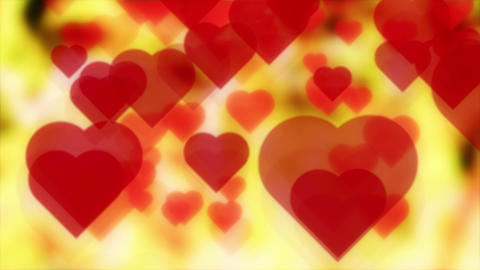 Love Hearts Fast Moving On Shiny Background 4K Animation