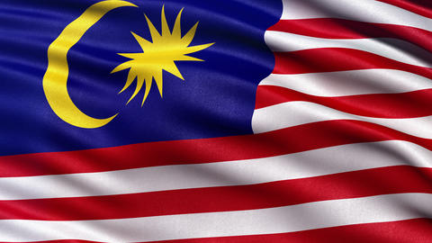 4K Malaysia flag seamless loop Ultra-HD Animation
