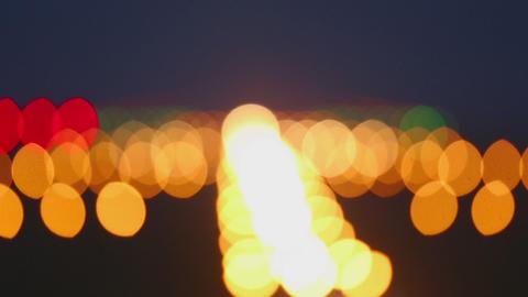Landing lights runway airport Footage