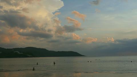 Evening beach in Phuket Footage