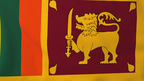 Flag of Sri Lanka Animation