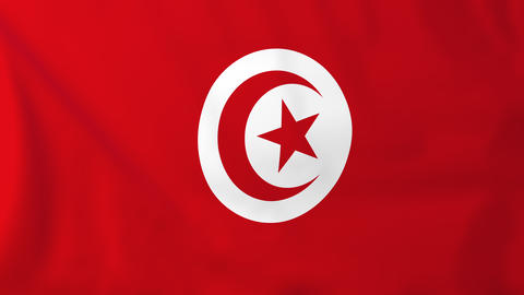 Flag of Tunisia Animation