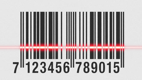 Scanning barcode on cardboard Stock Video Footage