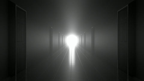 Scary Dark Corridor stock footage