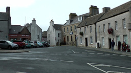 Scotland Orkney Islands Kirkwall 010 square at border of downtown main street Footage