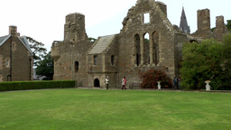 Scotland Orkney Islands Kirkwall 018 ruins of Bishop and Earls Palace Footage