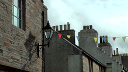 Scotland Orkney Islands Kirkwall 041 original British chimneys close Footage