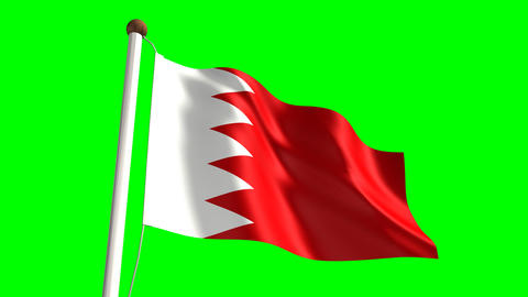 Bahraini flag Animation