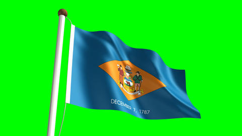 Delaware flag Animation