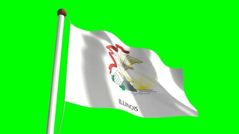 Illinois flag Animation