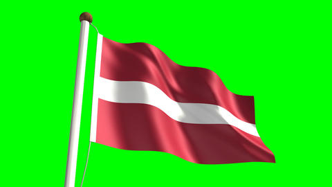 Latvian flag Animation