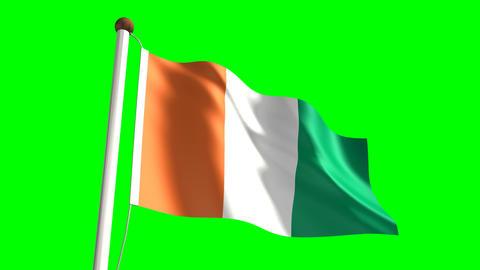 Ivory Coast flag Animation