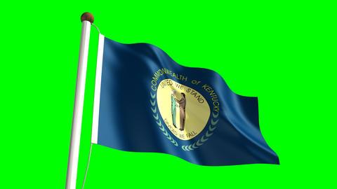 Kentucky flag Animation