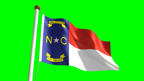 North Carolina flag Animation