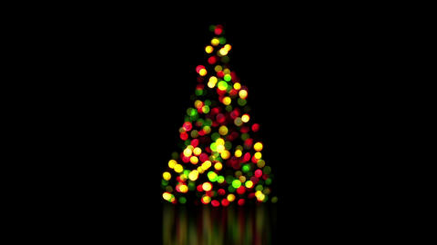 colorful christmas tree lights out of focus loop 4k (4096x2304) Animation