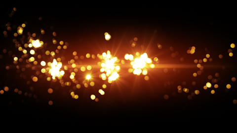 orange fireworks beautiful bokeh loopable background 4k... Stock Video Footage