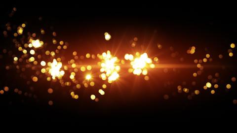 orange fireworks beautiful bokeh loopable background 4k (4096x2304) Animation