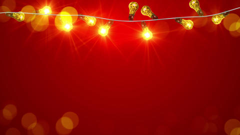 flashing christmas lightbulbs loopable animation 4k (4096x2304) Animation