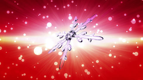 bokeh Christmas Snowflake red Animation