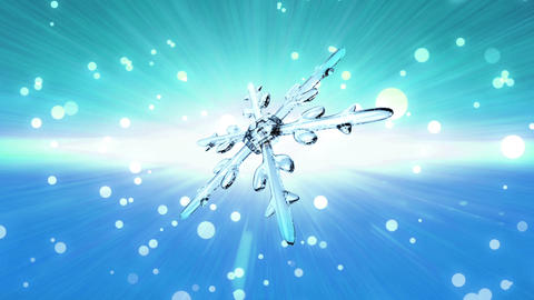 bokeh Christmas Snowflake sky blue Animation