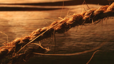 Rough And Course Rope With Warm Lighting stock footage