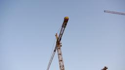 Construction Cranes Vehicle Shot Live Action