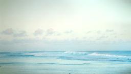 Blue Beach and Sky Panorama Stock Video Footage