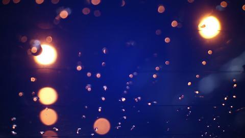 blurry lights on road in night city seamless loop Footage