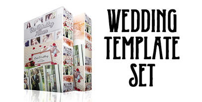Wedding Template Set 4in 1 stock footage