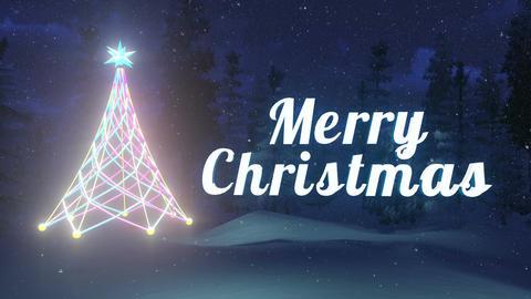 Luminous Merry Christmas and Christmas tree Loopable Animation