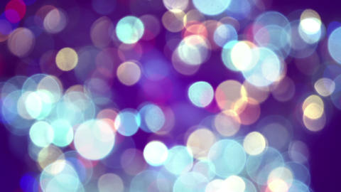 glimmer blurred circle lights loopable background Footage