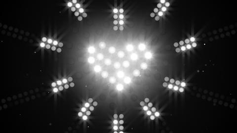 neon heart sign flashing loopable 4k (4096x2304) Animation