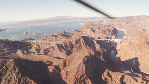 Aerial view flying over the Grand Canyon Footage