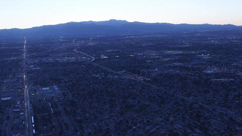 Aerial Flying Over Las Vegas, Nevada Strip stock footage
