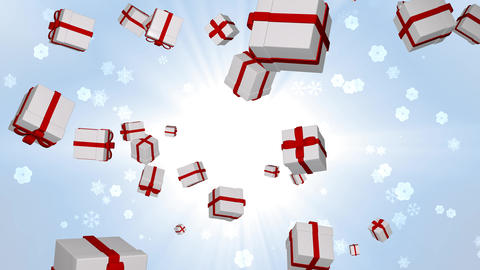 gift box 5 loop Animation