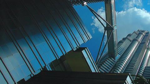 Famous Kuala Lumpur Petronas Towers in Malaysia Footage