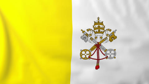 Flag of Vatican Animation